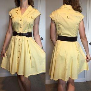 Vintage Style Yellow Dress